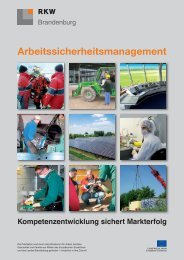 Arbeitssicherheitsmanagement - RKW Berlin-Brandenburg