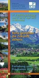Programm Reha Spetember 2012 - VKD Verband der ...