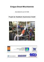 Erdgas-Diesel-Mischbetrieb