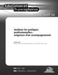 Analyser les pratiques professionnelles : exigences d'un ... - acelf