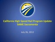 High–Speed Rail - SAME Sacramento