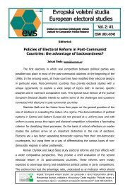 Policies of Electoral Reform in Post-Communist Countries: the ...