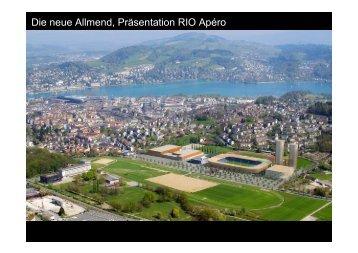 Bauvorhaben Stadion Allmend