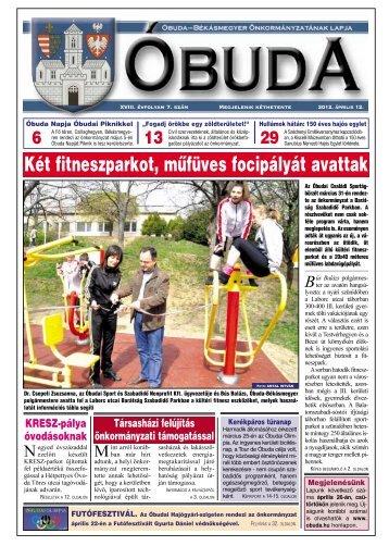 Két fitneszparkot, mûfüves focipályát avattak - Óbuda-Békásmegyer