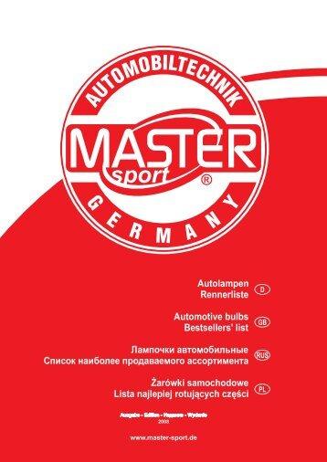 Autolampen - MASTER-SPORT.DE