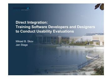 Training Software Developers and Designers to Conduct Usability ...