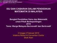 ISU DAN CABARAN DALAM PENDIDIKAN MATEMATIK DI MALAYSIA