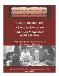 mediators - Bureau of Indian Education