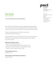 PACT ATelier ApplicAtions - PACT Zollverein