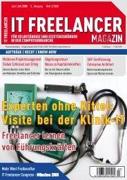 Experten ohne Kittel: Visite bei der Klinik-IT - IT Freelancer Magazin