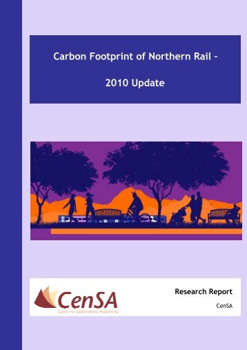 Carbon Footprint of Northern Rail – 2010 Update Research Report