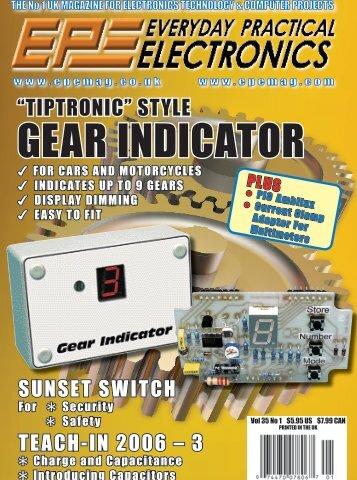Tiptronic-Style Gear Indicator