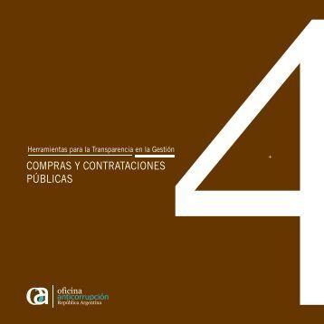 COMPRAS Y CONTRATACIONES PÚBLICAS - Oficina Anticorrupción