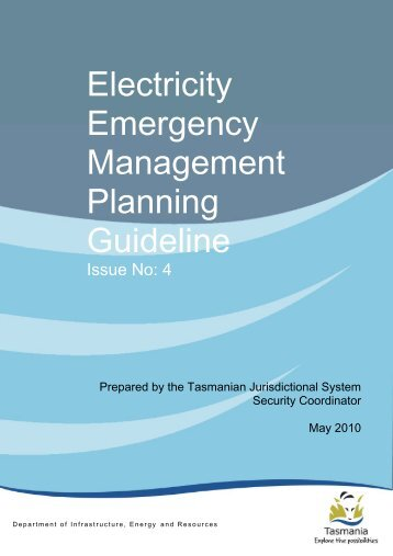 Electricity Emergency Management Planning Guideline (Issued by ...
