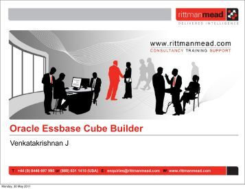 Oracle Essbase Cube Builder - Rittman Mead Consulting