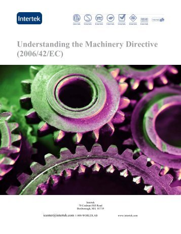 Understanding the Machinery Directive (2006/42/EC) - Intertek