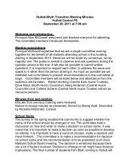 11-09-20 Draft Minutes Hullett-Blyth Transition Meeting