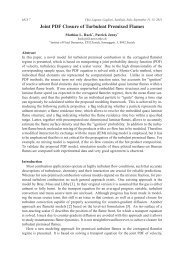 Joint PDF Closure of Turbulent Premixed Flames - Italian Section of ...