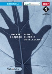 UM WELT & MENSCH RISIKO ENERGIE- GESELLSCHAFT