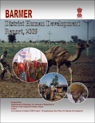 Barmer District Human Development Report, 2009 - United Nations ...
