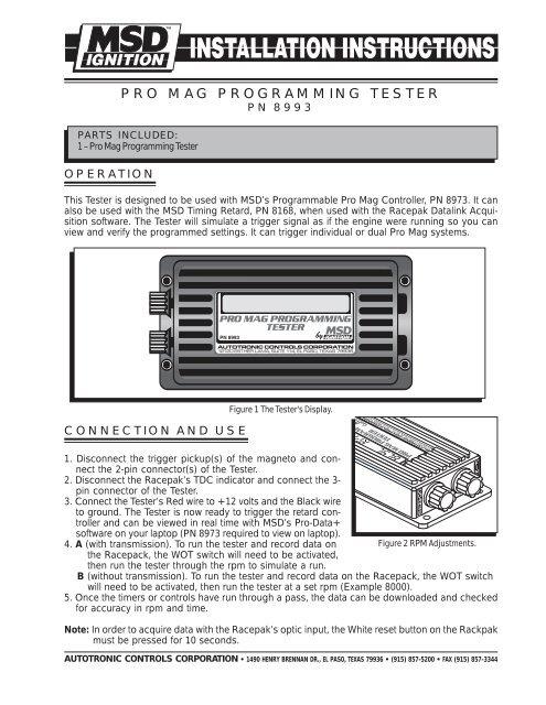 Pro Mag Programming Tester Msd Pro Mag Com