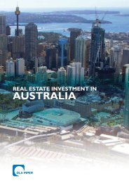 Real estate investment in Australia (1.7MB) - DLA Piper REALWORLD