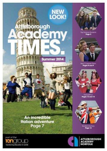 Attleborough Academy Times July 2014 LR SPREADS