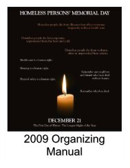 2009 Organizing Manual - National Coalition for the Homeless