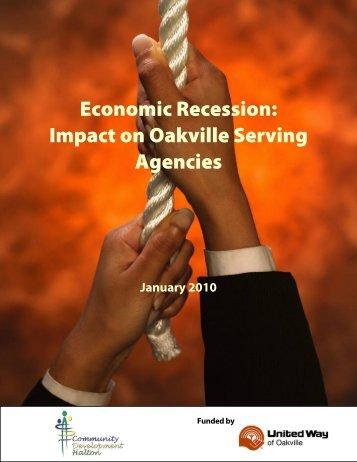 Economic Recession - Community Development Halton