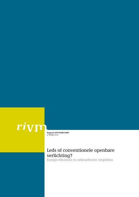 Leds of conventionele openbare verlichting? - Rivm