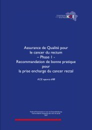KCE reports 69B - Belgian Cancer Registry