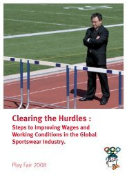 Clearing the Hurdles : Steps to Improving Wages ... - Play Fair 2008