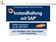 SAP Enterprise Asset Management - Karl Liebstückel