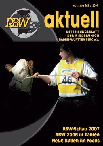 Ausgabe März 2007 aktuell - Rinderunion Baden-Württemberg e.V.