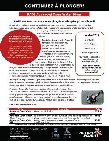CONTINUEZ À PLONGER! - Action Scuba