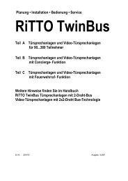 Systemhandbuch Concierge - Ritto