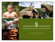 Annual Report 2011 - Farm and Wilderness