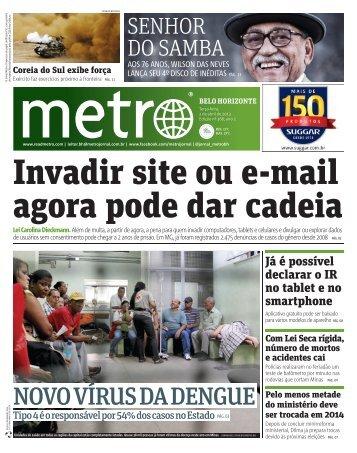 NOVO VÍRUS DA DENGUE - Metro