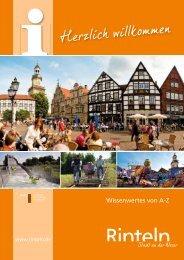 Reingeschaut-die Bürger- informationsbroschüre ... - Stadt Rinteln