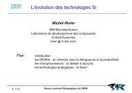 2. L'évolution des technologies Silicium (Partie 1)