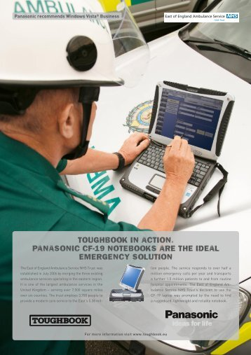 Toughbook in AcTion. PAnAsonic cF-19 noTebooks ... - Group Mobile