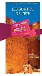 Guide Sorties ETE 2010 - Tourisme Lot-et-Garonne