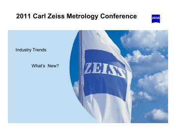 2011 Carl Zeiss Metrology Conference