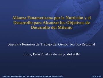 Alianza Panamericana por la Nutrición y el Desarrollo para ... - BVSDE