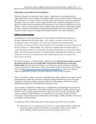Menstrual Hygiene Management Paper for END working group