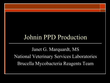 Johne's PPD Production - Johne's Information Central