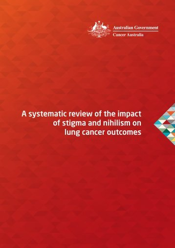 A systematic review of the impact of stigma and ... - Cancer Australia