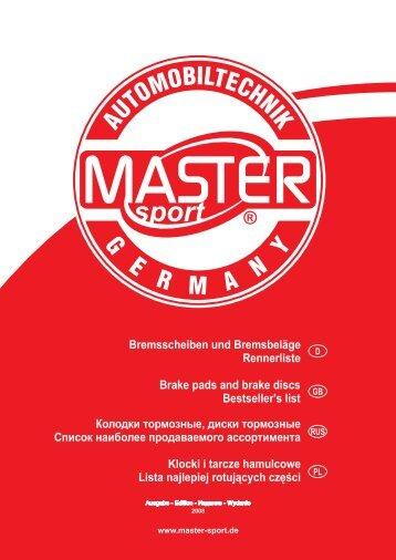 Bremsscheiben und Bremsbel?ge Rennerliste Brake pads and ...