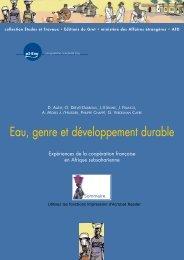 Eau, genre et développement durable - Africa Adapt