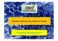 Métodos e práticas para análise de resíduos